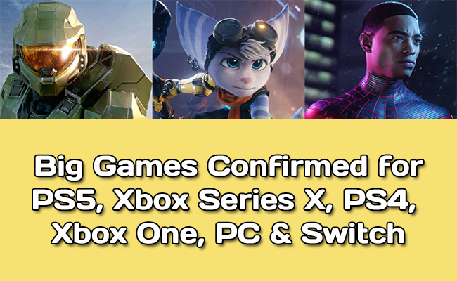 Release date of big games on P55 & Xbox Series X