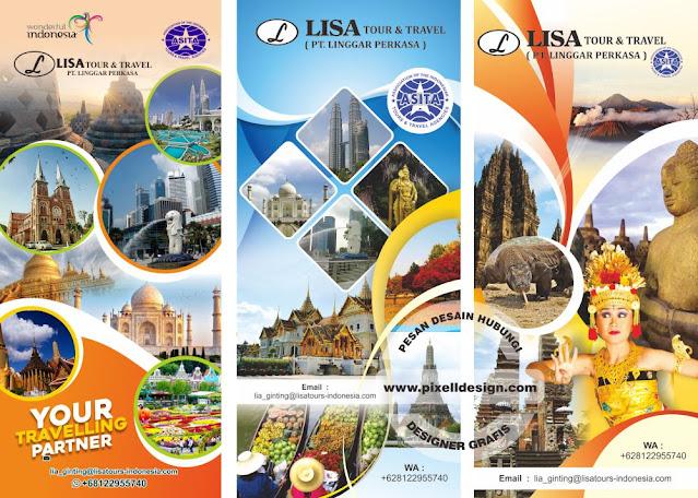 Iklan Banner Spanduk Promosi Wisata dan Travel Agen