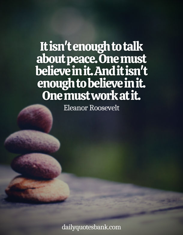 Famous Quotes About Being At Peace With Yourself