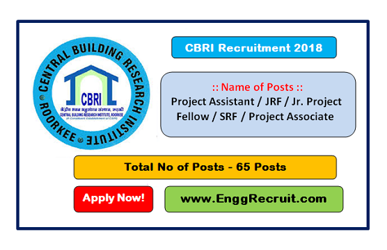 CBRI Recruitment 2018