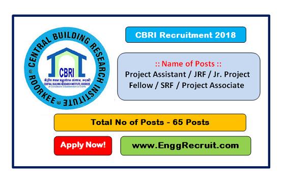 CBRI Recruitment 2018