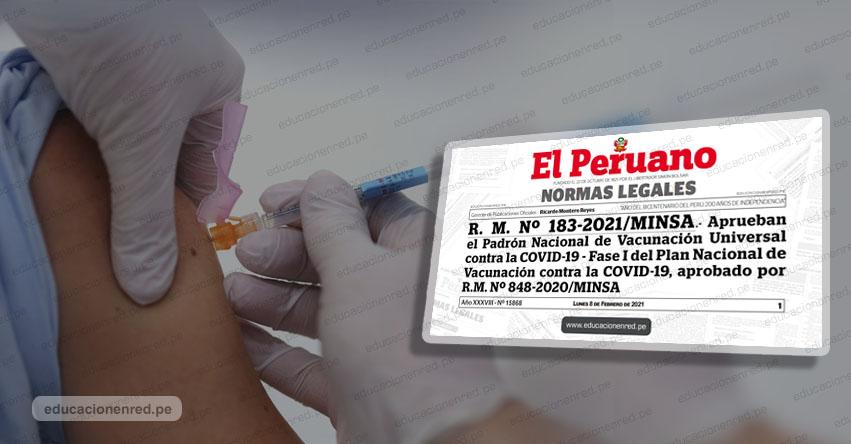 VACUNA COVID: Sepa quiénes serán los primeros en vacunarse según padrón oficial de la Fase 1 - www.minsa.gob.pe