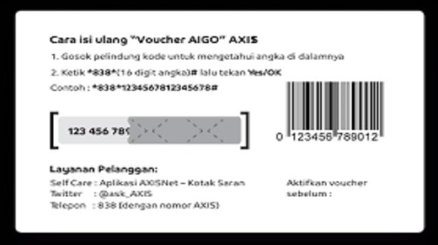 Cara Memasukkan Kode Voucher AXIS
