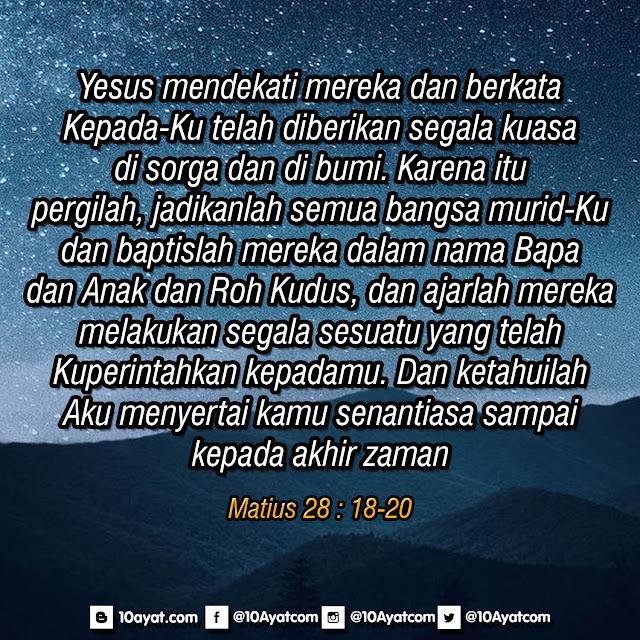 Matius 28 : 18-20