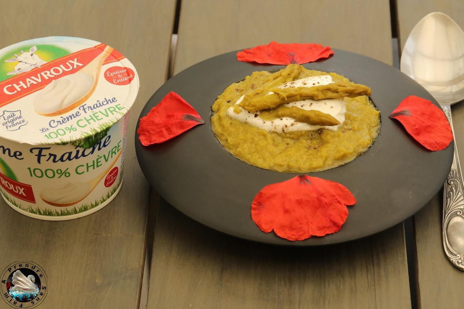 Gaspacho asperges courgettes à la crème Chavroux