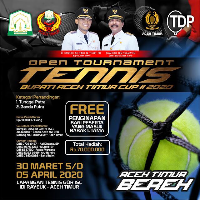 OPEN TOURNAMENT TENNIS BUPATI ACEH TIMUR CUP II 2020