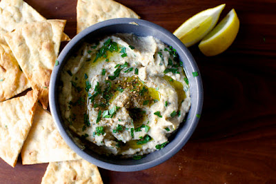 Smoky Pan-Grilled Baba Ghanoush Dip