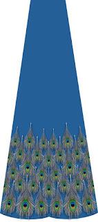 Traditional peckock print lehenga 7094
