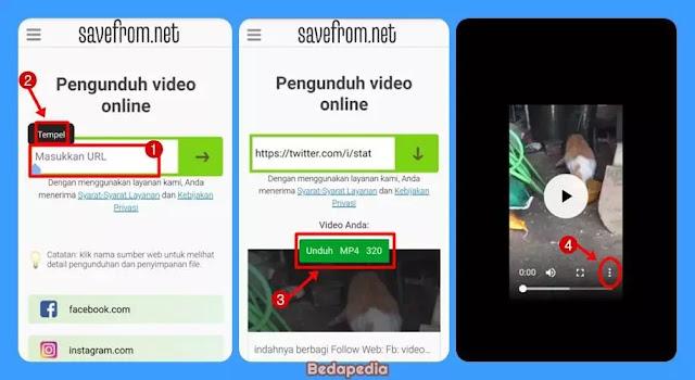 Mengunduh video twitter tanpa aplikasi. by savefrom