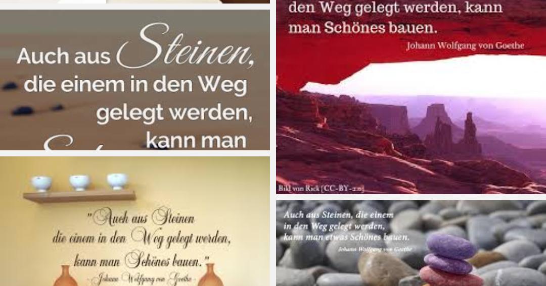 """ZITATFORSCHUNG: """"Auch Aus Steinen, Die Einem In Den Weg"""