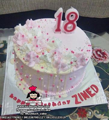 Kue Tart 17 Tahun Simpel dan Cantik
