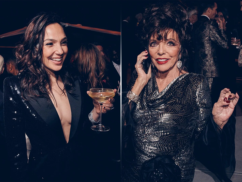 Gal Gadot and Joan Collins