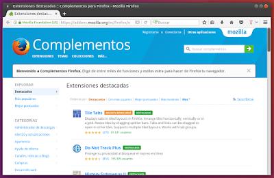 Complementos para Firefox