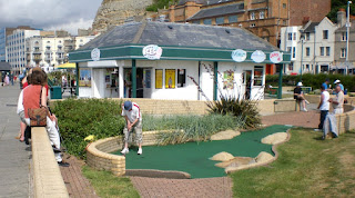 Minigolf course in Hastings