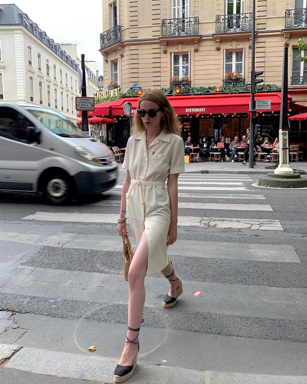 I'm Obsessed With Shirtdresses Thanks To This Chic French Girl