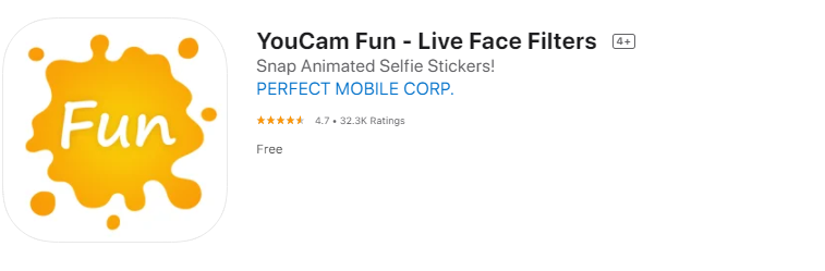 YouCam fun funny face apps