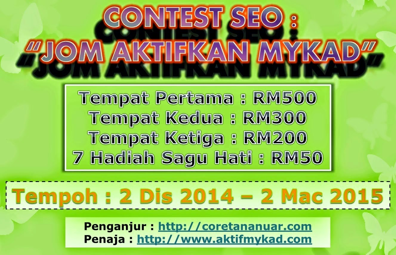 Contest SEO Jom Aktifkan myKad