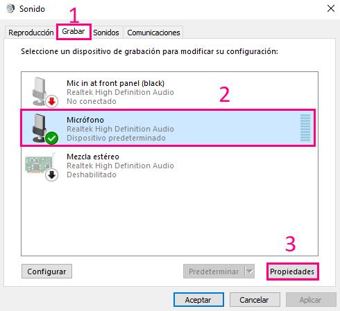 Cómo configurar el micrófno en Windows 10 - Charkleons.com