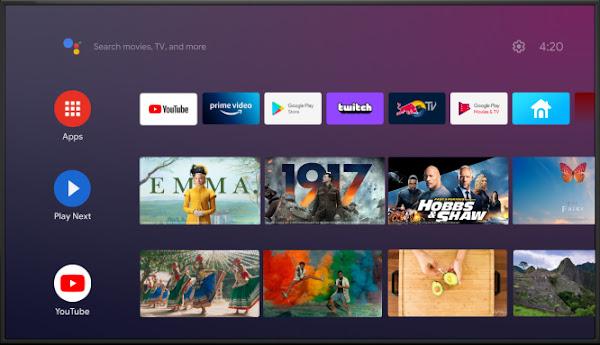 Como desativar as visualizações de vídeo e áudio no ecrã inicial do Android TV