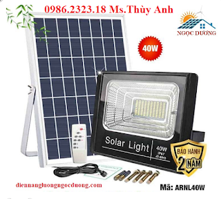 Đèn led pha năng lượng mặt trời 40w ,Đèn LED Năng Lượng Mặt Trời Vườn Ngoài Trời 40W