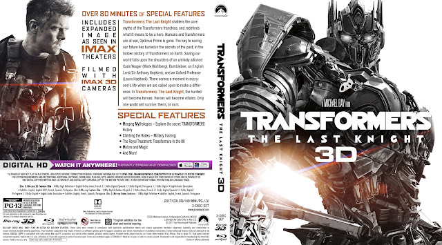 Transformers: The Last Knight 3D Bluray Cover