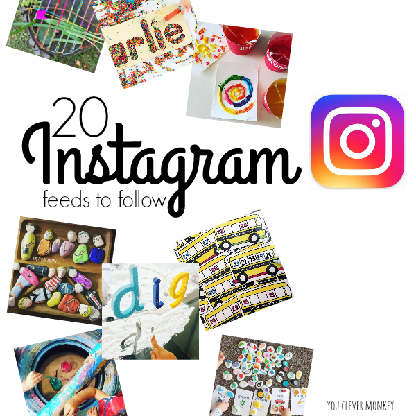 20 Must Follow Instagram Accounts - 20 inspiring Instagram accounts every Early Years educator or parents of young children should follow | you clever monkey