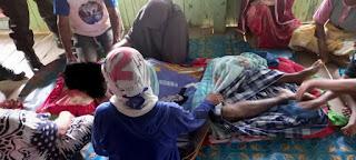 Unit Identifikasi Polres Pangkep, olah TKP Laka kerja korban meninggal