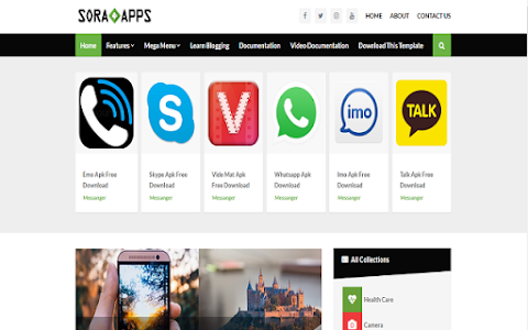 Best Apps Blogger  Website Templates Free Download