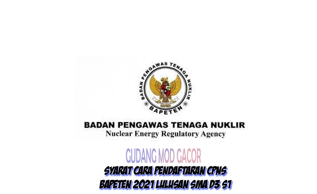 Cara Pendaftaran CPNS BAPETEN 2021 Lulusan SMA SMK D3 S1 ...