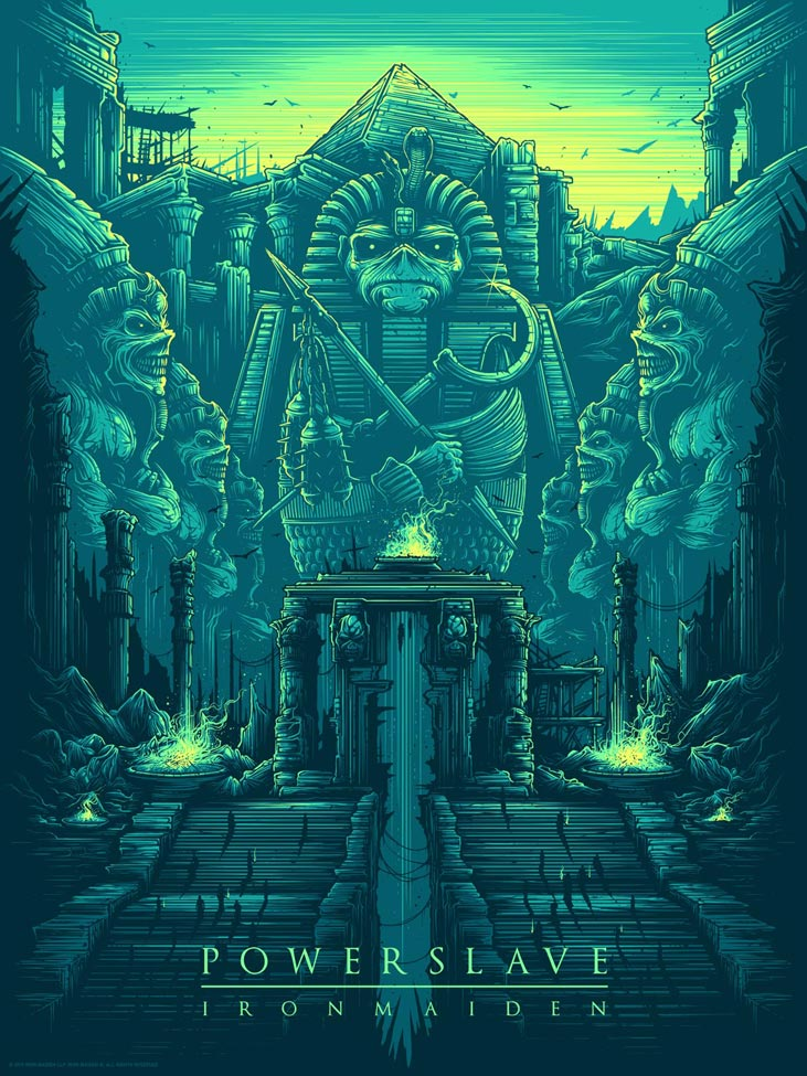 Inside the rock poster frame blog iron maiden posters by for Posters art prints