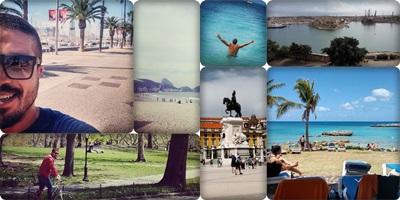 Barcelona, Copacabana - RJ, Central Park - NY, Caribe, Valetta - Malta, Lisboa