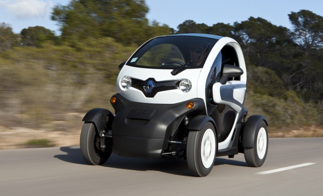 Renault Twizy at speed