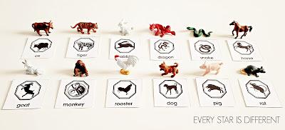 Chinese New Year Zodiac Animal Match Up