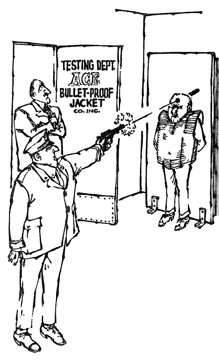 Charles Rodrigues National Lampoon, a bullet-proof police vest cartoon