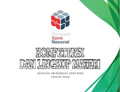 Kompetensi dan lingkup materi OSN SMP 2018