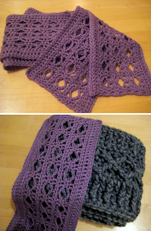 Diamond Scarves - Free Pattern