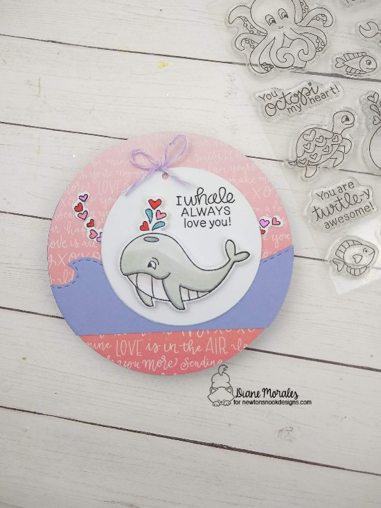 I whale always love you by Diane features Tides of Love and Sea Borders by Newton's Nook Designs; #newtonsnook