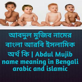 আবদুল মুজিব নামের অর্থ কি, আবদুল মুজিব নামের বাংলা অর্থ কি, আবদুল মুজিব নামের ইসলামিক অর্থ কি, Abdul Mujib name meaning in Bengali, আবদুল মুজিব কি ইসলামিক নাম,