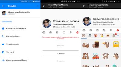 Conversaciones secretas de Facebook Messenger