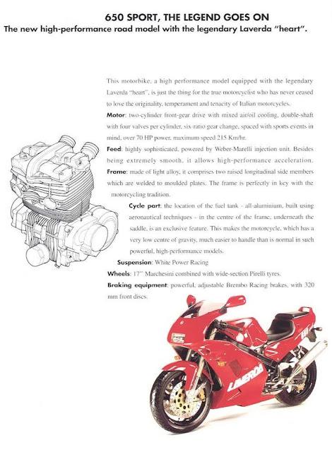 Zanè Laverda 650 i.e. Sport Brochure