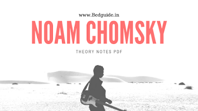 Noam Chomsky Theory Notes PDF