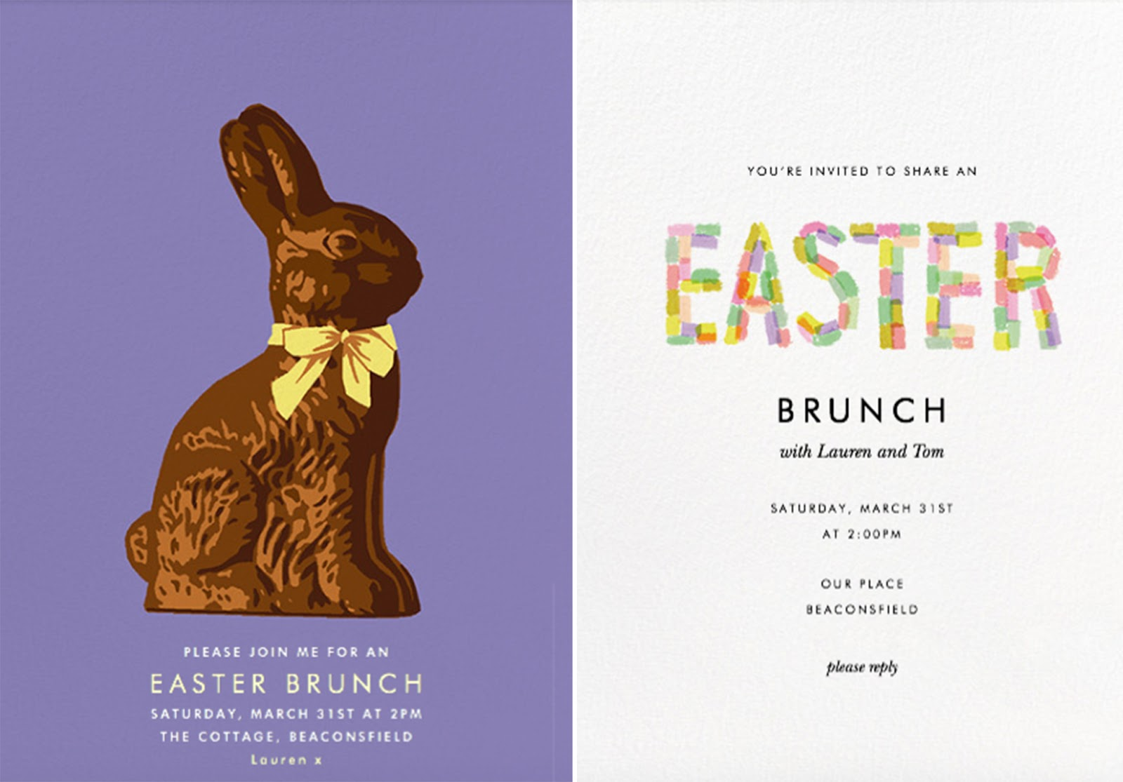Paperless Post Brunch Invitations