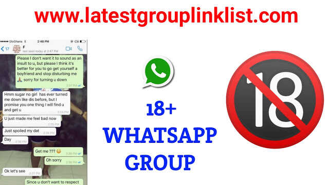 Join Latest 18+ Whatsapp Group Link 2020