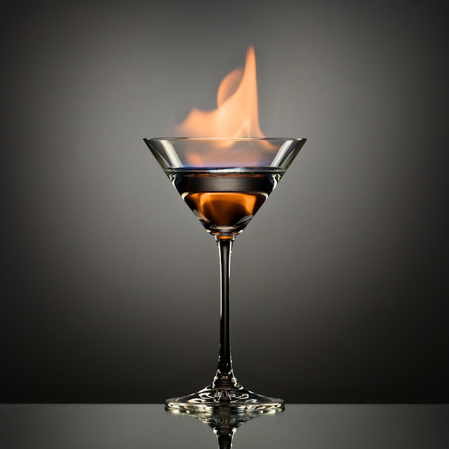 The Flaming Martini by Andrew Vernon