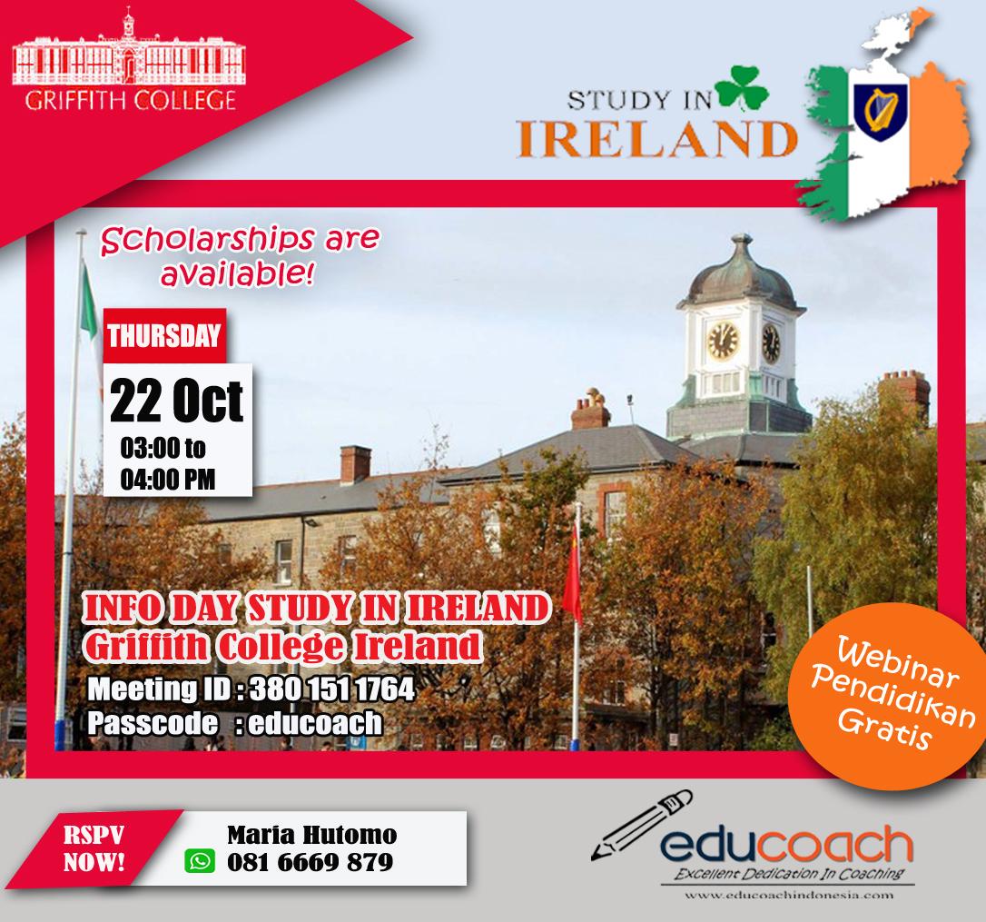 INFO DAY STUDY IN IRELAND | Educoach Indonesia | Konsultasi Pendidikan & Studi Lanjut Di Irlandia