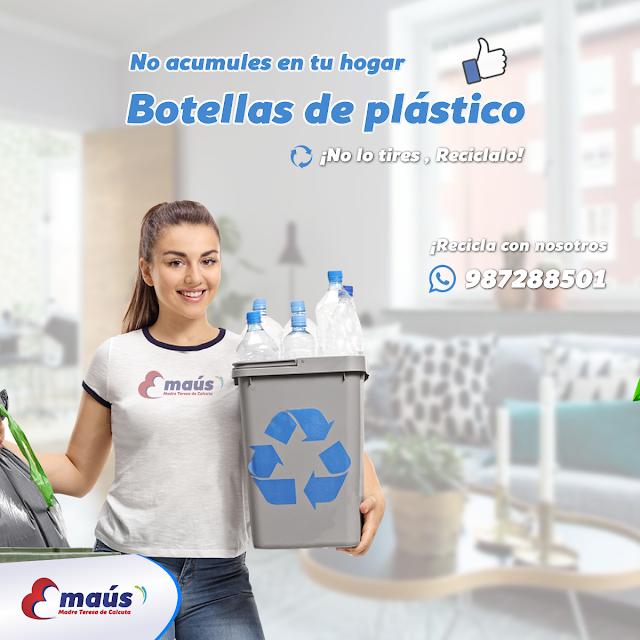 No acumules botellas de plástico, reciclalo con Emaús