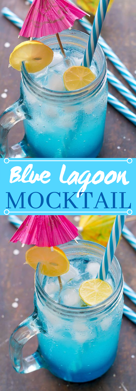 Blue Lagoon Mocktail #drinks #kidfriendly