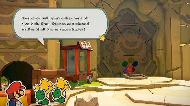 Paper Mario The Origami King holy Shell Stones Koopa Troopas