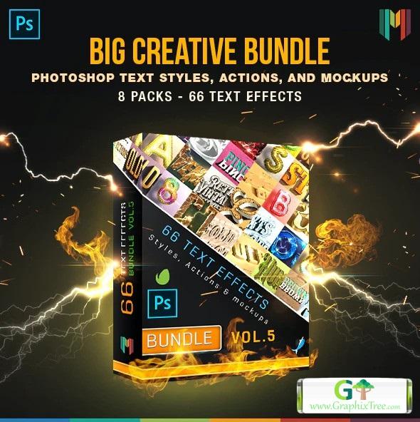 Graphicriver 66 Creative Text Effects Bundle 5 26168423