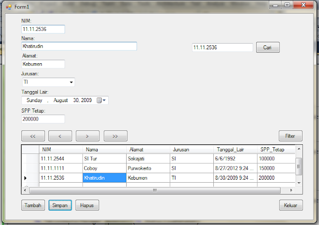 hasil+run - Koneksi Sql Server Dengan Microsoft Visual Studio